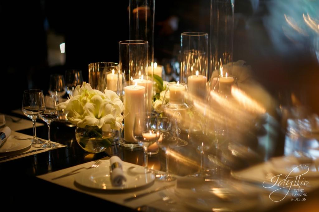 Decor nunta cilindrii lumanari