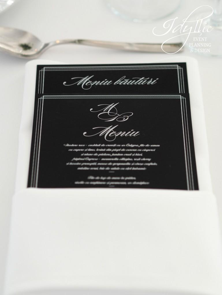 print meniu design by Idyllic Events