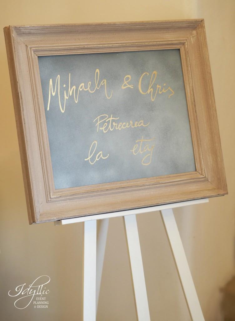 Rama cu mesaj nunta