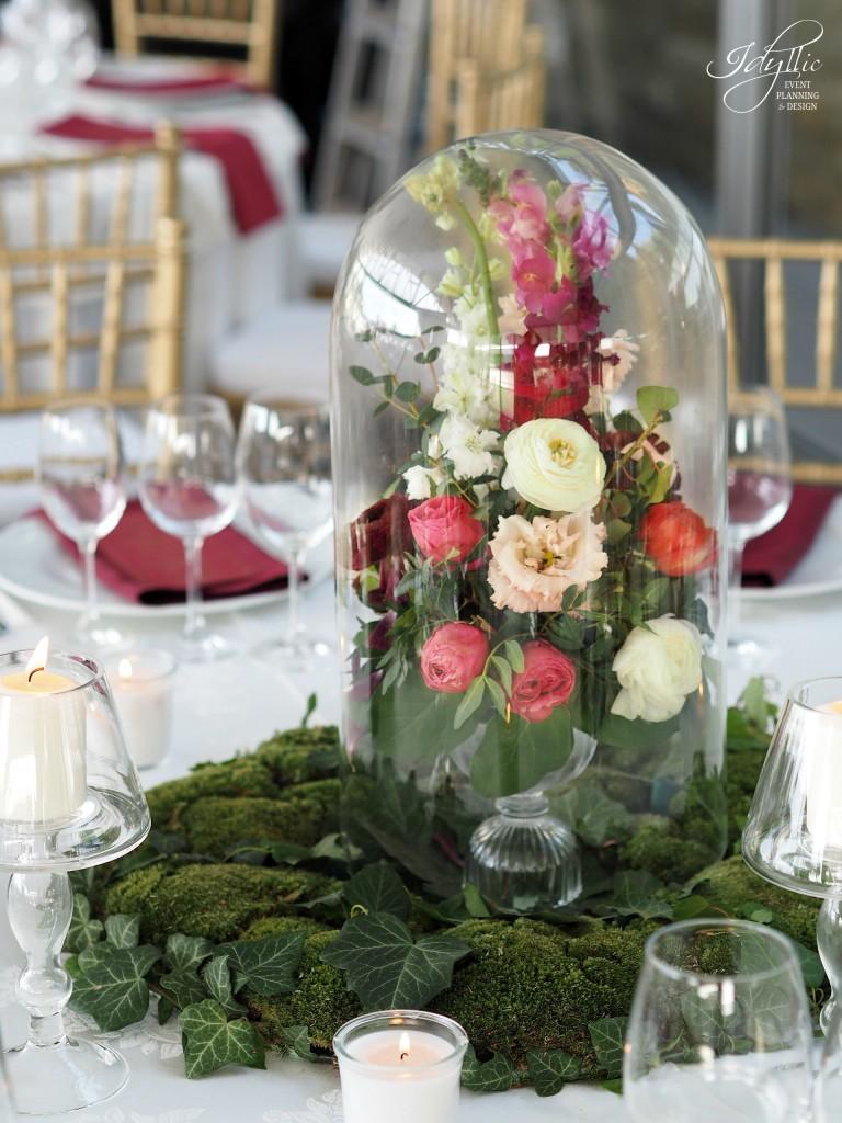 Aranjament floral in cupola