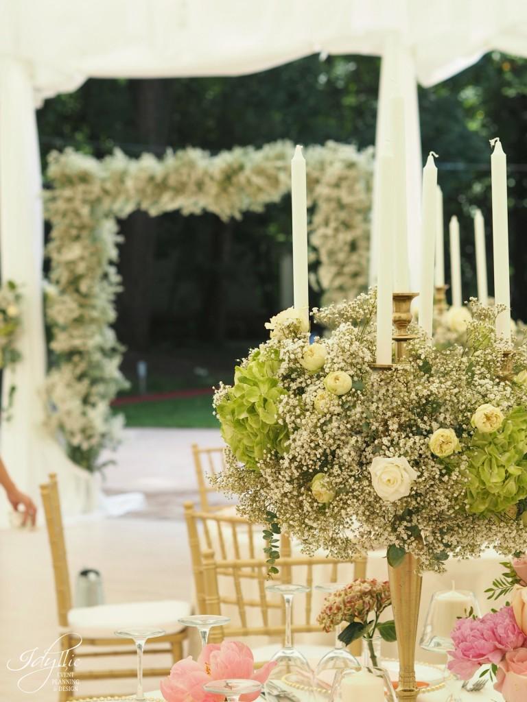 Aranjamente florale nunta palatul stirbei