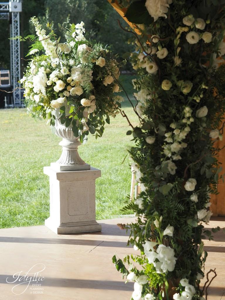 Aranjament floral exterior idyllic