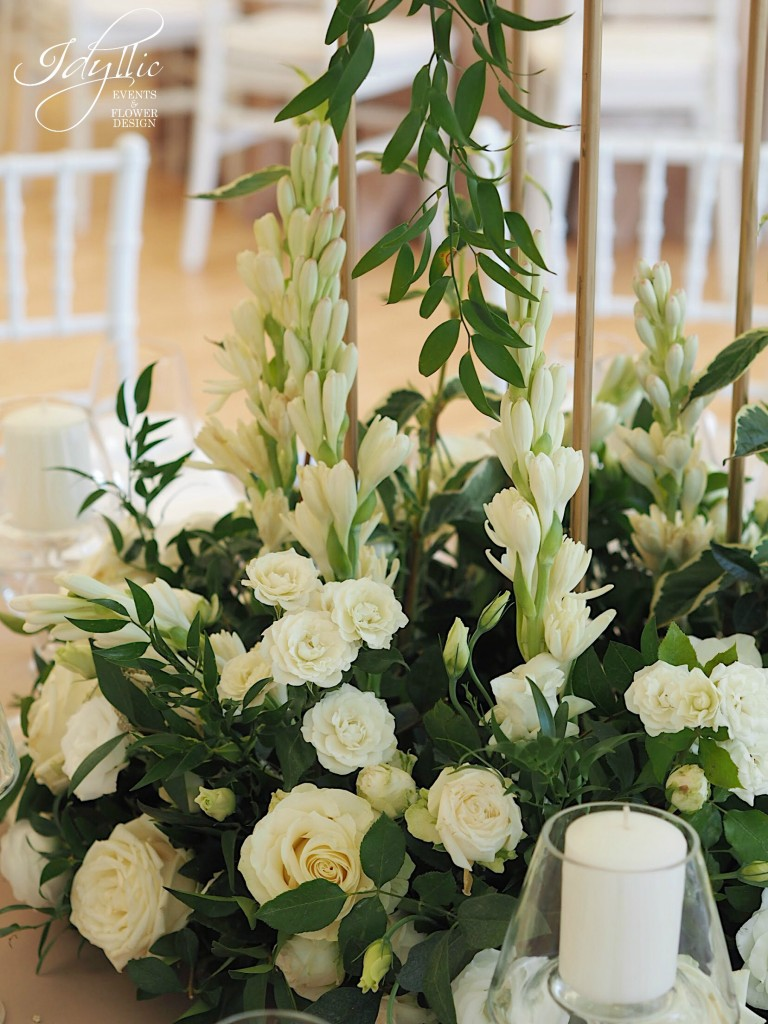 Detalii aranjament floral