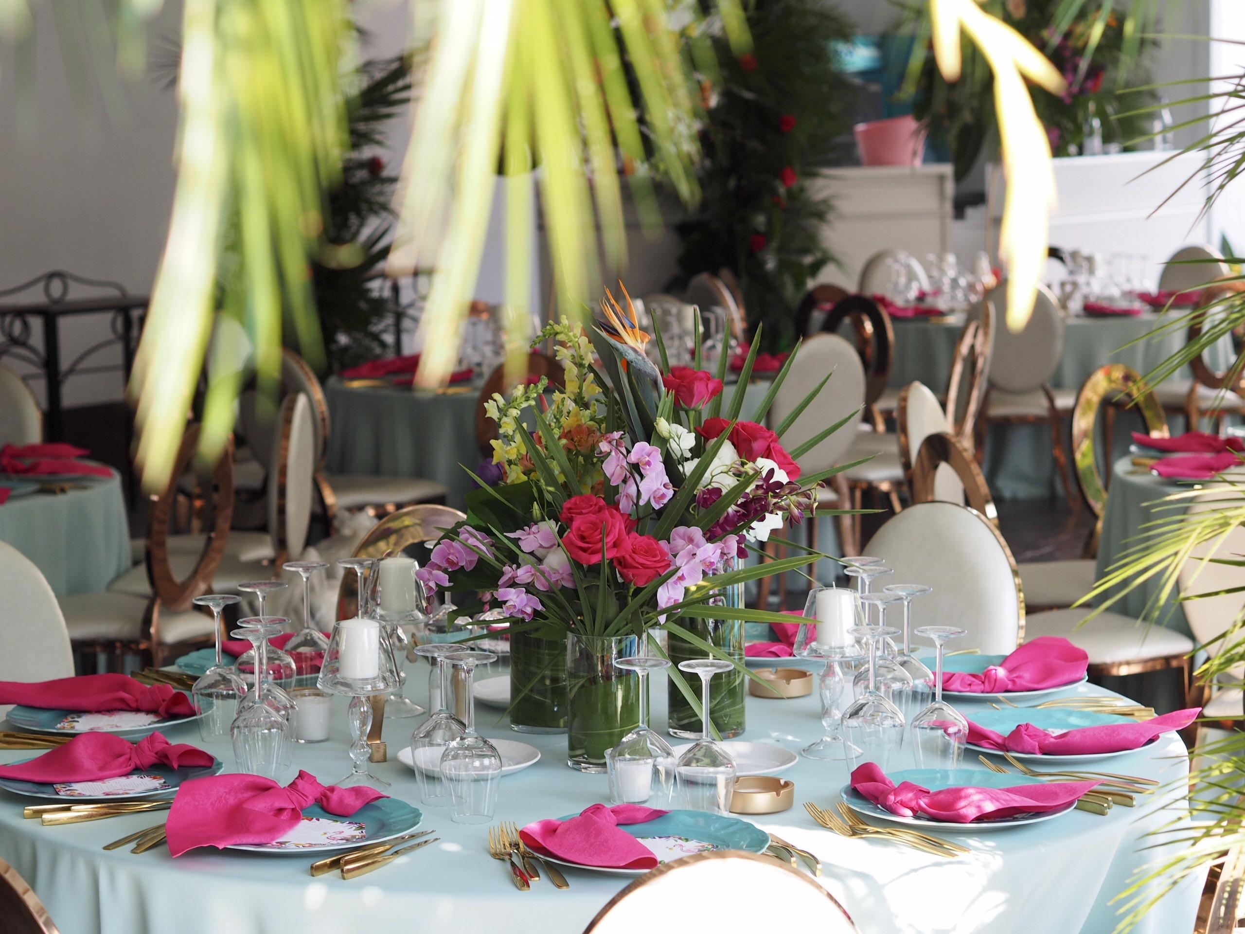 Aranjamente florale exotice nunta