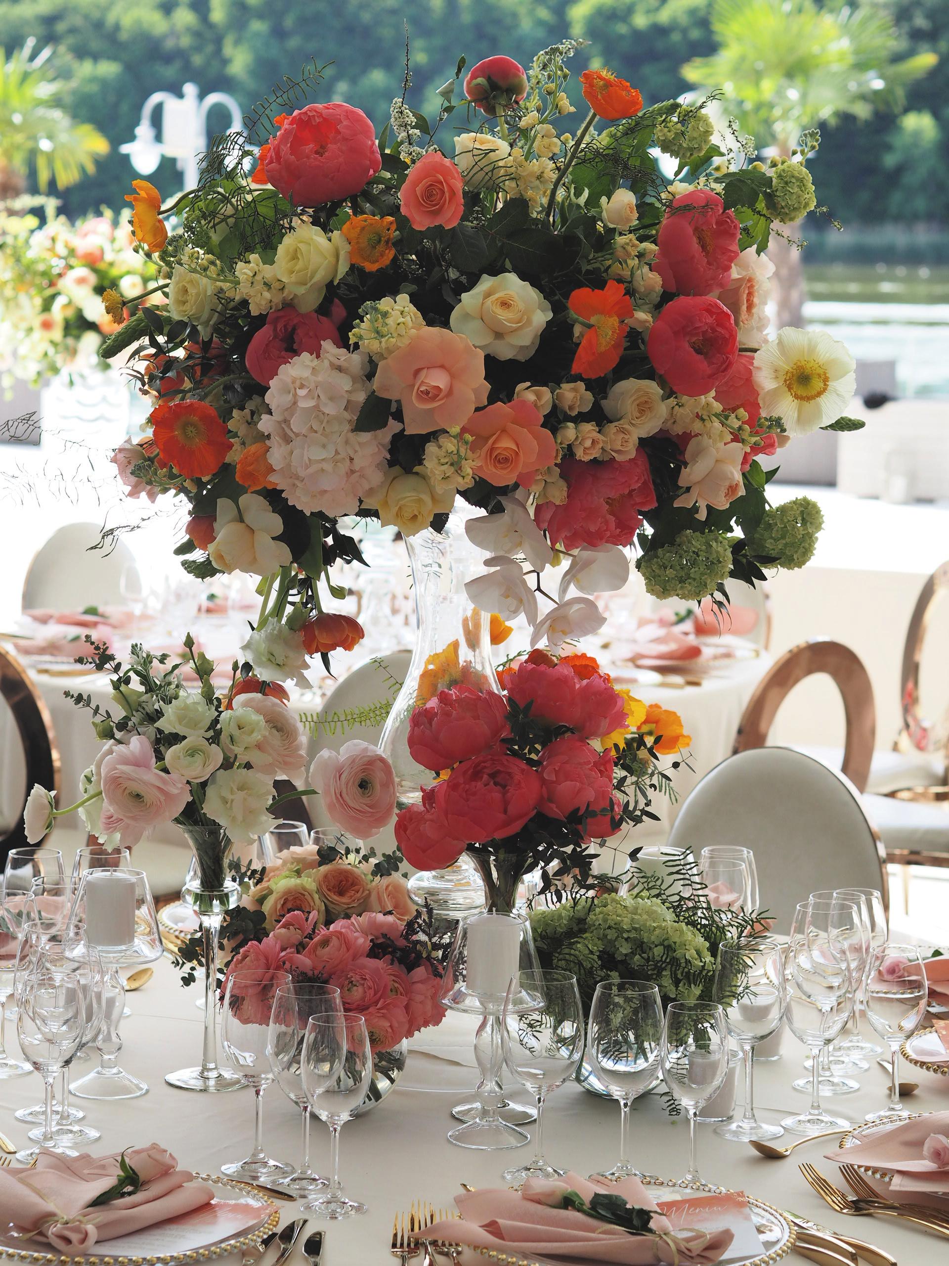 Organizare evenimente, Aranjamente florale nunta