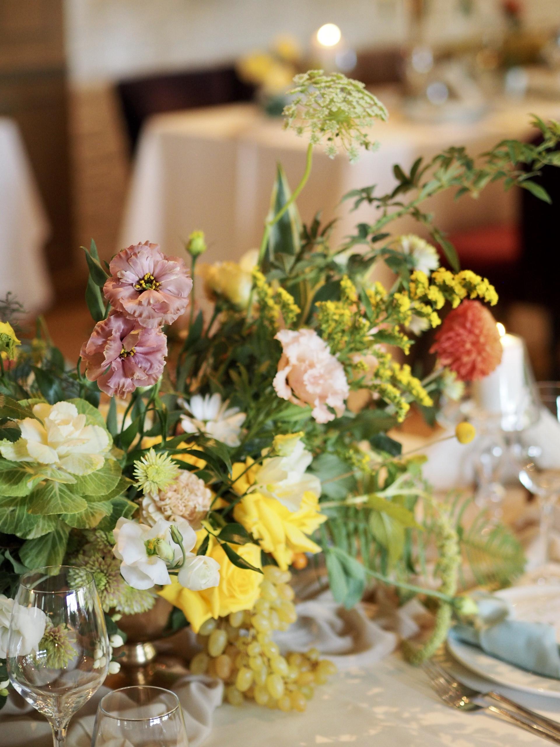 Detalii aranjament floral botez Diplomat